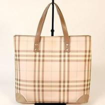 Authentic Burberry Pink Nova Check Luxury Simple Tote Bag Photo