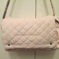 Authentic Burberry Pink Soft Quilted Fabric Diaper Bag With Changing Mat Photo