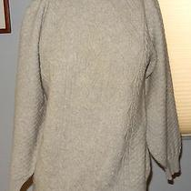 Authentic Burberry's Cable Knit Lambswool Sweater Scotland Sz 38 Euc Photo