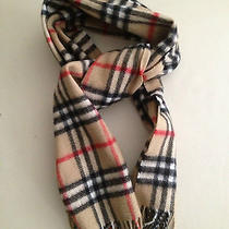 Authentic Burberry Scarf Classic Check Cashmere - Luxurious Winter Staple Photo