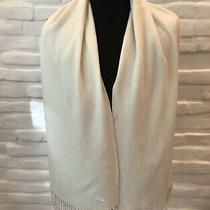Authentic Burberry Scarf Ivory 100% Cashmere 170/32cm Made in England Photo