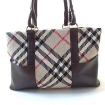Authentic Burberry  Tote Bag Leather Otherused Photo