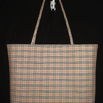 Authentic-Burberry-Tote-Shopping Tote-Bag Photo