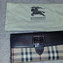 Authentic Burberry Wallet W/storage Bag Photo