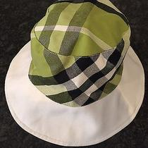 Authentic-Burberry-Womans-Bucket-Hat-Small  - Green/black Burberry Plaid - Rare Photo
