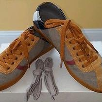 Authentic Burberry Womens Low Top House Check Sneaker Size 38 Photo