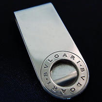 Authentic Bvlgari Bulgari Sterling Silver 925 Money Clip Vintage Italy Photo