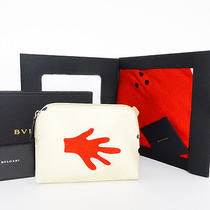 Authentic Bvlgari Cosmetic Pouch and 100% Silk Cushion Cover Set With Box Photo