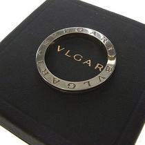 Authentic Bvlgari Logos Key Chain Ring Silver 925 Made in Italy Vintage 01f931 Photo
