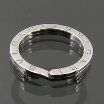 Authentic Bvlgari Round Logo Key Ring Holder Sterling Silver F37333 Photo