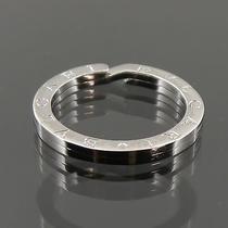 Authentic Bvlgari Round Logo Key Ring Holder Sterling Silver F71033 Photo