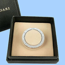 Authentic Bvlgari Sterling Silver Key Ring Holder Neklace 5124 Photo