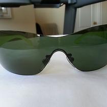 Authentic Bvlgari Sunglasses Greenish Very Chic Hard to Find Like New Photo