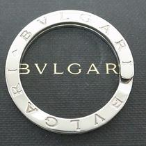 Authentic Bvlgari Sv925 Sterling Silver Key Ring Italy W/box Logo Engraved Photo