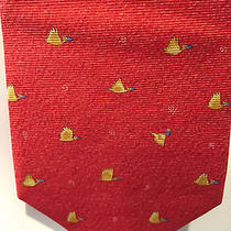 Authentic Bvlgari Tie Red Birds Preowned Cf  Photo
