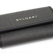 Authentic Bvlgari Weekend 6 Ring Key Case Black  Photo