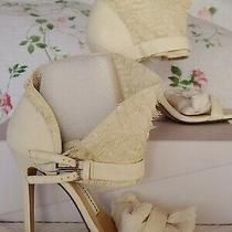 Authentic Camilla Skovgaard Collar Stiletto Sandals Sz Eu38 Bone Color. Photo
