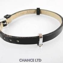 Authentic Cartier Black Leather and 18k White Gold Bracelet Great Condition Photo