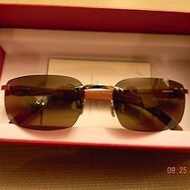 Authentic Cartier C-Decor Wood Glasses Photo