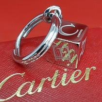 Authentic Cartier Decor Dice Key Ring Logo Cube Charm Silver Accessory Photo