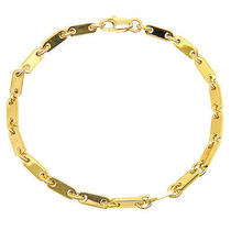 Authentic Cartier   Figaro Flat Link Yellow Gold Bracelet Photo