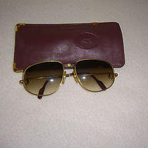 Authentic Cartier Gold Plated Sunglasses Model Vendome Unisex 130 Photo