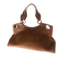 Authentic Cartier Leather  Tote Bag   Punching Design Logo Design Stitch Photo