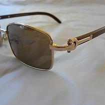 Authentic Cartier Men's Wood Sunglasses  Photo