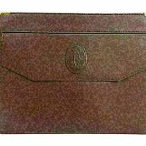 Authentic Cartier Must Line Clutch Bag Bordeaux Leather 79667 Photo