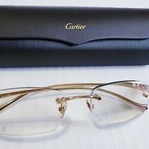 Authentic Cartier Panthere Rx Eyeglasses Frames Rimless Gold W/case Reg 1100  Photo