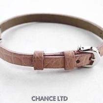Authentic Cartier Pink Leather and 18k White Gold Bracelet Very Good Condition Photo