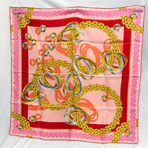 Authentic Cartier Pure Silk 100% Scarf Pink Photo