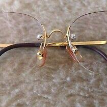 Authentic Cartier Rimless Frameless Gold Plaque 135 16 Prescription Glasses Vgc Photo