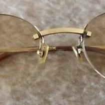 Authentic Cartier Rimless Frameless Gold Plaque 135 20 Prescription Glasses Vgc Photo