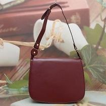 Authentic Cartier Ruby Line Red Wine Shoulder Bag Photo