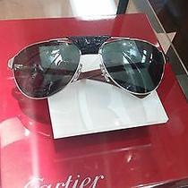 Authentic Cartier Sunglasses Polarized Lenses Antique Classic Aviator Photo
