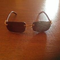 Authentic Cartier Sunglasses Wood Temples With Solid 18 Carat Gold  Photo