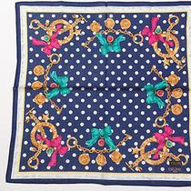 Authentic Celi Ne Paris Handkerchief Gold Chain Width 18 X Length 17.5 Versac Photo