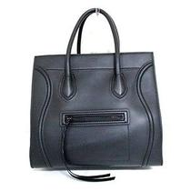 Authentic Celine Black Luggage Small Square Phantom Leather Tote Bag W/ Dust Bag Photo