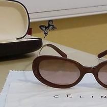 Authentic Celine Brown Sunglasses 100% Uv Protection With Case  Photo