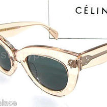 Authentic Celine Caty Antique Pink Sunglass Cl 41050 - Egzbn New Photo