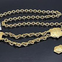 Authentic  Celine  Gold  Plated   Belt    Paris   B571 Photo