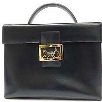 Authentic Celine Leather Vanity Bag Navy Color 0542 Photo