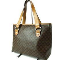 Authentic Celine Macadam Pvc Leather Browns Tote Bag Shoulder Bag Ct0729l Photo