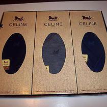 Authentic Celine Men's Dress Socks 3 Pair Set Japan Made Original Gift Box Photo