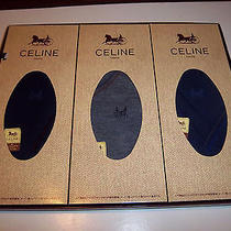 Authentic Celine Men's Dress Socks 3 Pair Set Japan Made Original Gift Box Photo