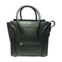 Authentic Celine Micro Luggage Shopper Tote Bag Leather Black Used Photo