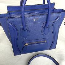 Authentic Celine Nano Luggage in Indigo With Gold Hw Drummed Leather Photo