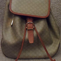 Authentic Celine Paris Made in Italy Backpack Monogram Size 11