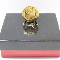 Authentic Celine Scarf  Ring Gold Plated  7421b Photo